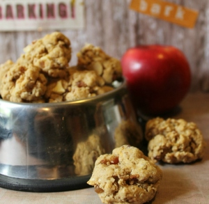 Homemade-Apple-Bacon-Oatmeal-Dog-Cookies